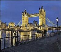 Алмазная мозаика выкладка стразами + Картина живопись по номерам на холсте Городской мост 40*50 см 2 в 1