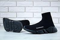 Мужские кроссовки Balenciaga Speed Trainer Black кроссовки баленсиага спид тренер баленсиага носки Унисекс