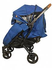 Прогулочная Коляска Yoya Plus Max 2021 Синий рама черная, фото 2