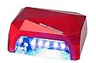 Гибридная ультрафиолетовая CCFL+LED УФ лампа 36W Quick CCFL LED Nail Lamp UKC выдвижное дно AVE, фото 6