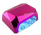 Гибридная ультрафиолетовая CCFL+LED УФ лампа 36W Quick CCFL LED Nail Lamp UKC выдвижное дно AVE, фото 7