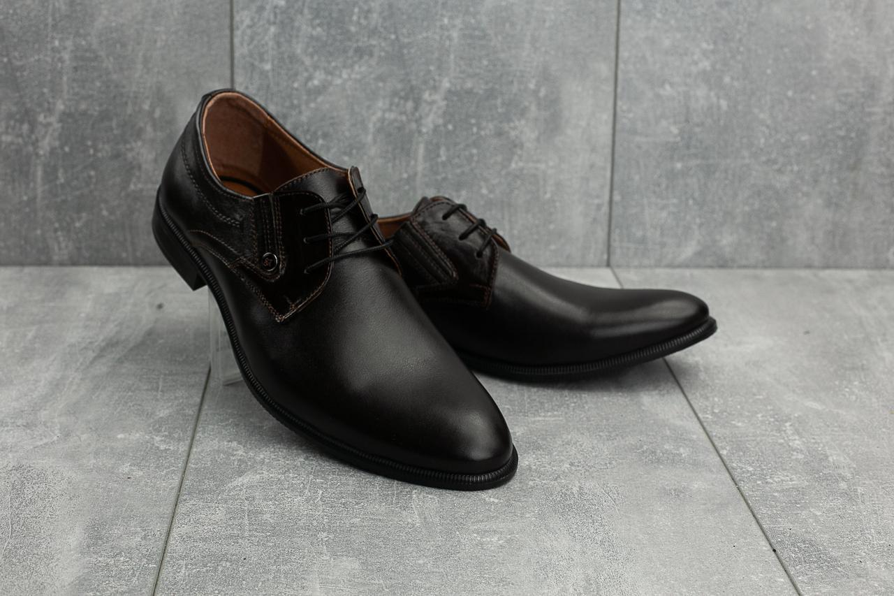 Мужские туфли кожаные весна/осень коричневые Slat  45 размер