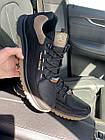 Мужские кроссовки кожаные весна/осень черные Splinter Trend 1219, фото 6