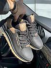 Мужские кроссовки кожаные весна/осень черные Splinter Trend 1219, фото 9