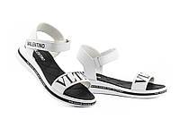 Женские босоножки кожаные летние белые Best Vak VLTN Л 62-06 White