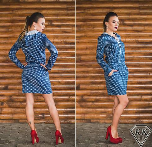 Платье 15878, цвет джинс, фото 2