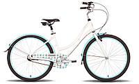 "Велосипед 26'' PRIDE CLASSIC рама - 18"" бело-голубой глянцевый 2016"