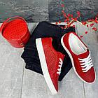 Женские кеды кожаные летние красные Yuves 591 Red Перфорация, фото 8