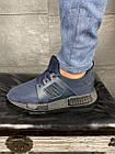 Чоловічі кросівки текстильні літні сині Brand АХ, фото 2