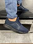 Чоловічі кросівки текстильні літні сині Brand АХ, фото 3