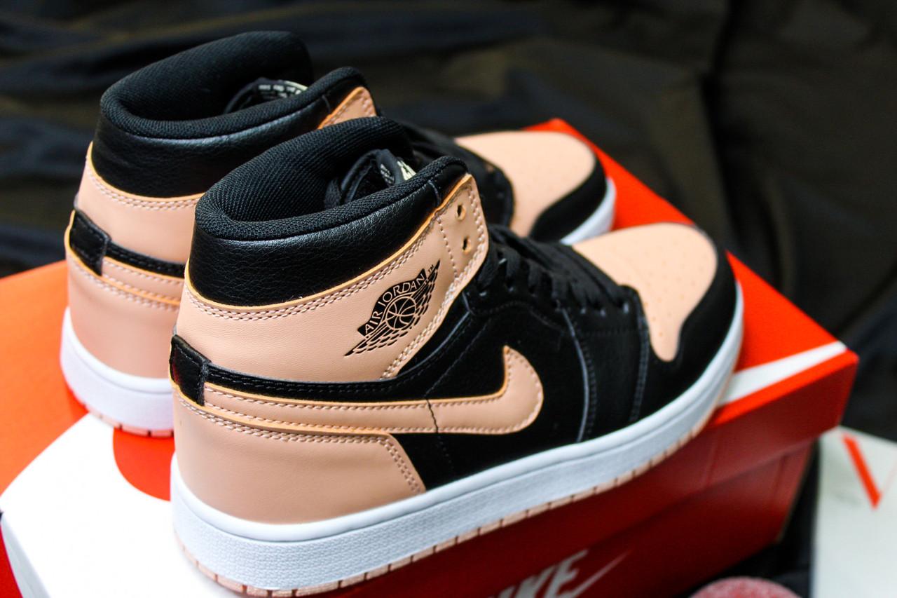 Жіночі кросівки Nike Air Jordan Retro High Peach/Black