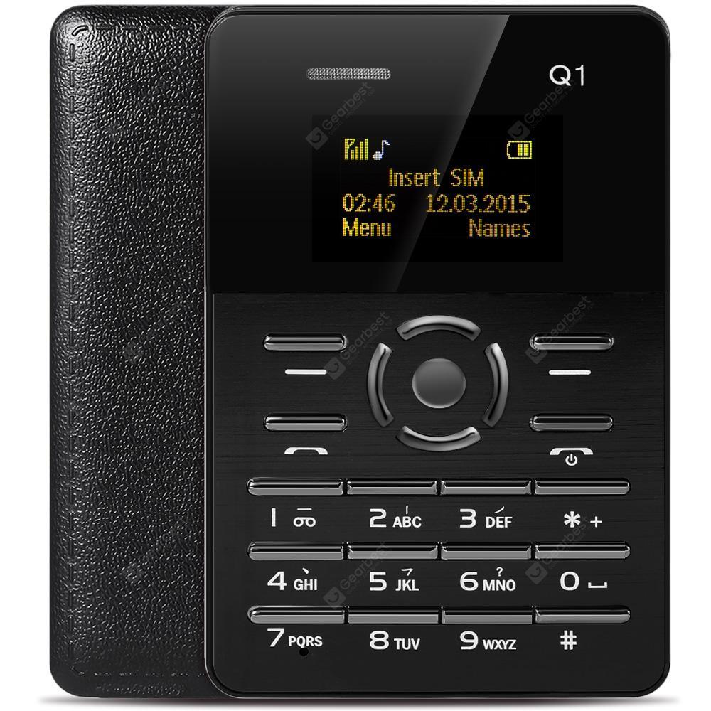 Микро Мобильный телефон-кредитная карточка Мобильный мини телефон - кредитка AIEK C6 Q1 Акция телефон кредитка