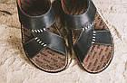 Мужские шлепанцы кожаные летние черные Bonis Original 27, фото 2