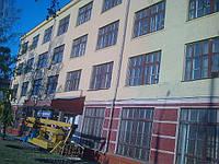 Покраска фасадов покрасочным агрегатов в Харькове и Харьковской области