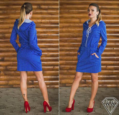 Платье 15878, цвет электрик, фото 2