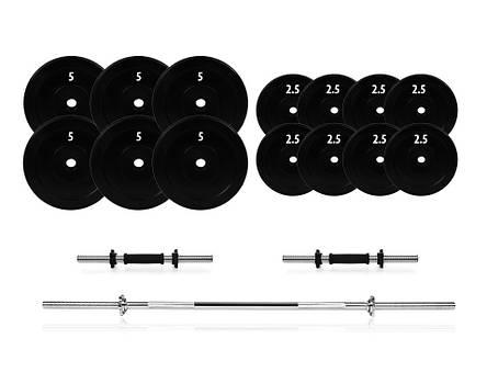 Набір штанга + гантелі розбірні 72 кг., фото 2