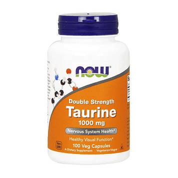 Аминокислота таурин двойная сила Now Foods Taurine 1000 mg Double Strenth (100 veg caps)