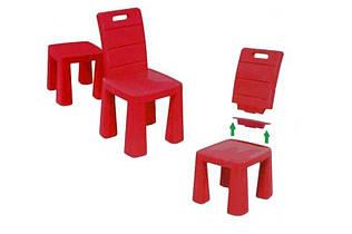 Детский стульчик трансформер 2 в 1 красный 04690/5