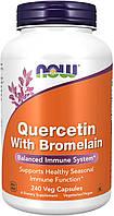 Кверцитин с бромелаином жиросжигатель Now Foods Quercetin with Bromelain 240 капсул