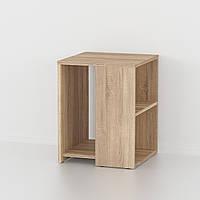 Боковой журнальный столик с полками, кофейный приставной стол G0064 Дуб Сонома