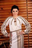 Женская вышиванка с длинным рукавом, размер 44