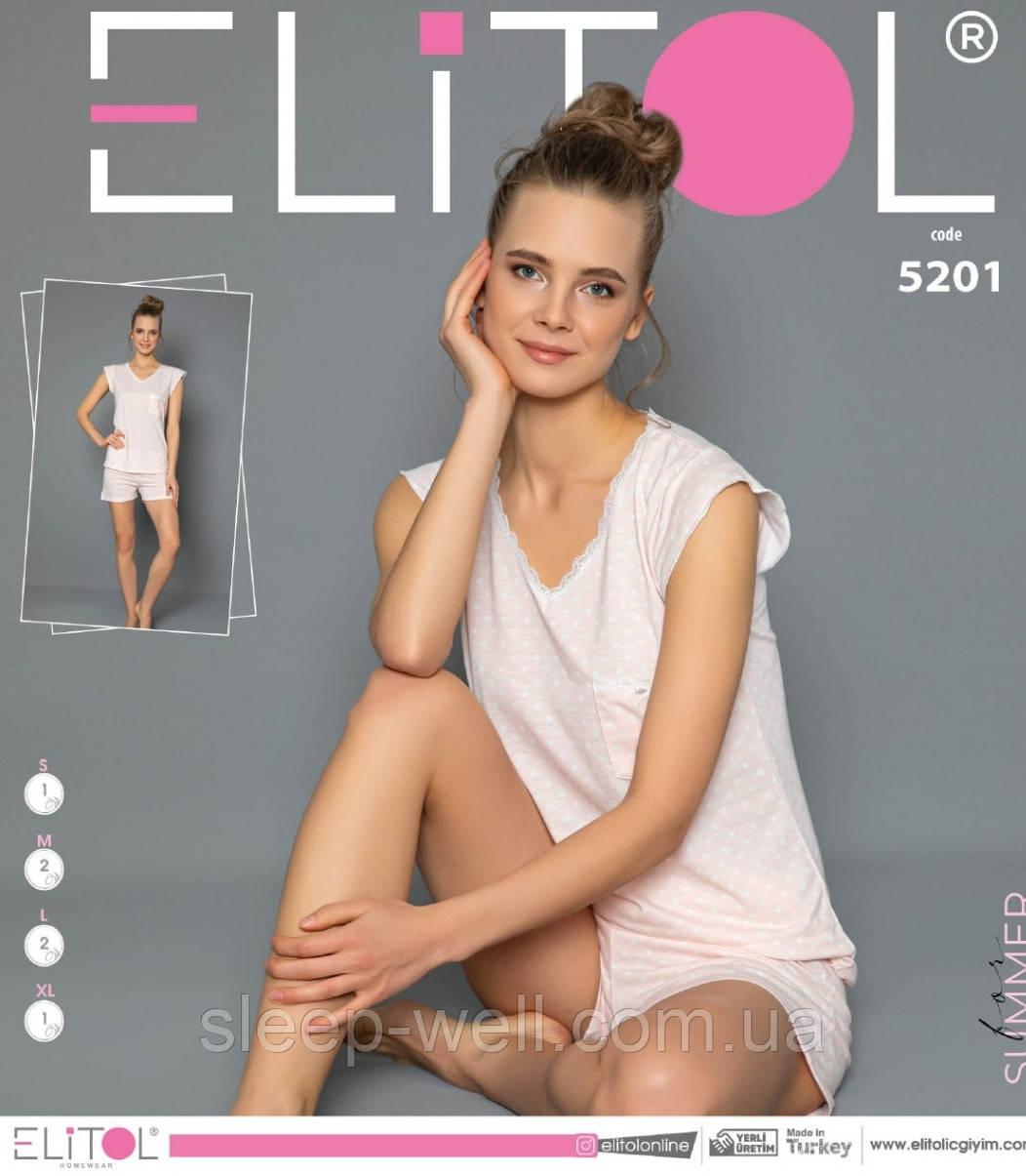 Піжама жіноча з шортами,ELITOL 5201