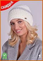 Стильная зимняя шерстяная женская шапка вязаная разные расцветки