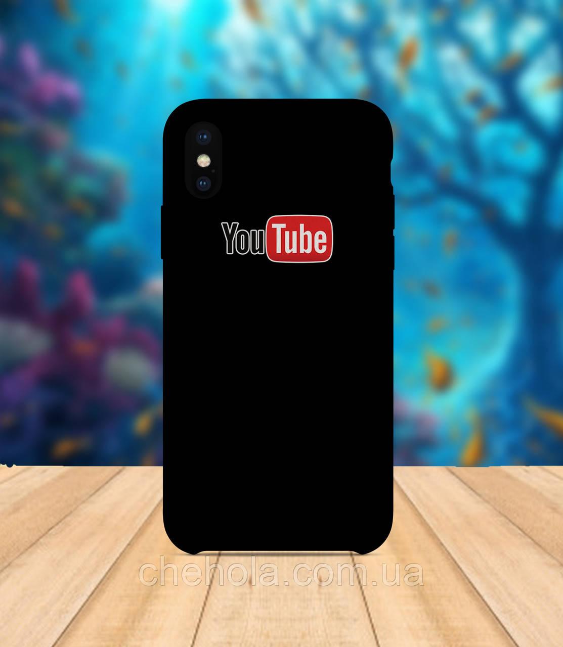Чехол для apple iphone x XS max Youtube черный чехол с принтом