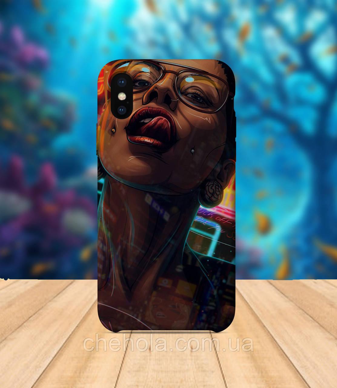 Чохол для apple iphone x XS max Грайлива дівчина чохол з принтом