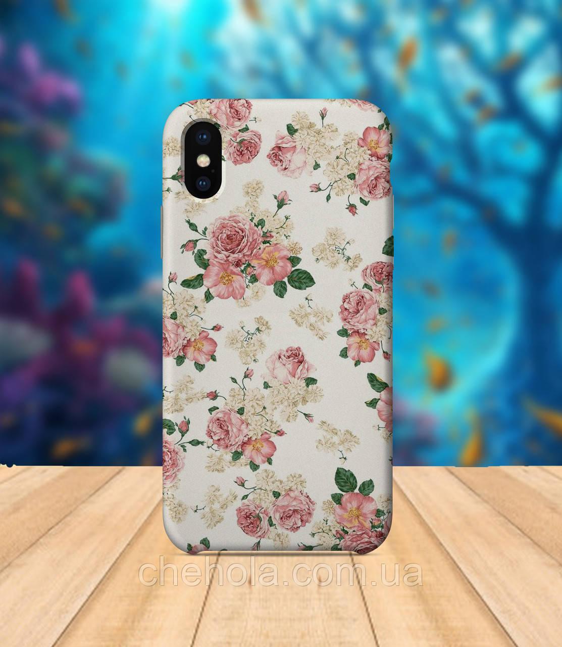 Чехол для apple iphone x XS max Цветы весенний чехол с принтом