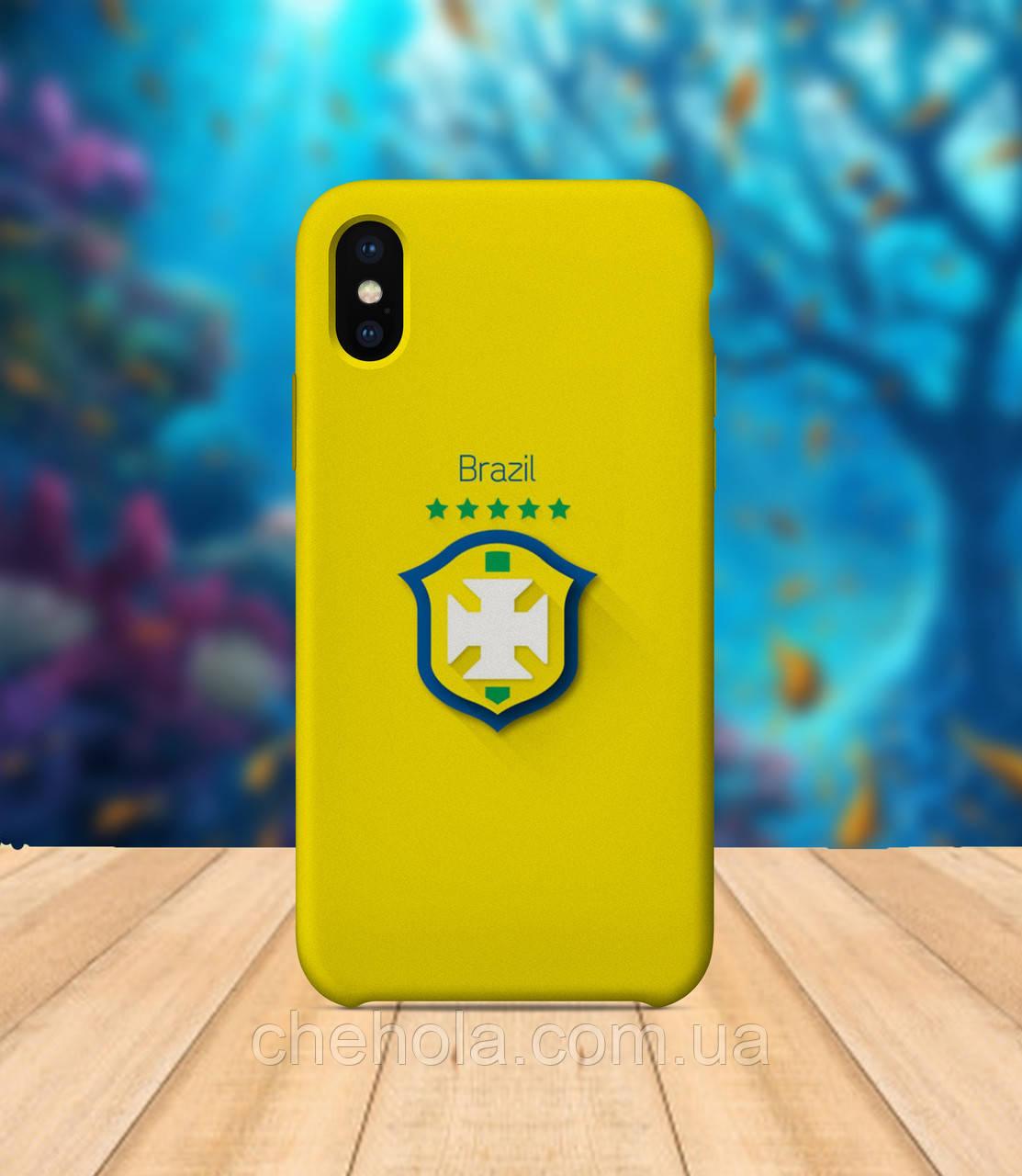 Чохол для apple iphone x XS max Прапор Бразилії чохол з принтом