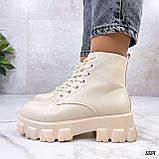 Женские ботинки ДЕМИ бежевые эко кожа весна/ осень, фото 4