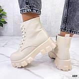 Женские ботинки ДЕМИ бежевые эко кожа весна/ осень, фото 6