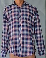 Мужская рубашка клетка фиолет