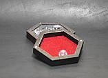 Лоток для гри в кістки dnd / Дерев'яна коробка в сільському вінтажному стилі / RPG Dice box, фото 5
