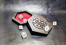 Мини Лоток  для игры в кости dnd компактный Хранитель кубиков / Подземелья и драконы