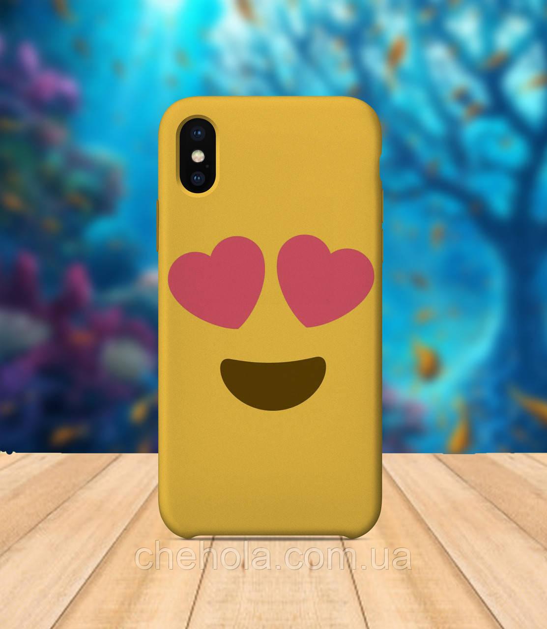 Чехол для apple iphone x XS max Смайлик чехол с принтом