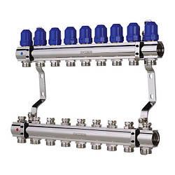 """Коллекторный блок с термостатическими клапанами KOER KR.1100-09 1""""x9 WAYS (KR2635)"""