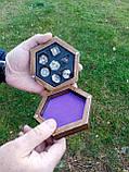 Лоток для гри в кістки dnd / Дерев'яна коробка в сільському вінтажному стилі / RPG Dice box, фото 8