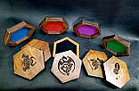 Лоток для гри в кістки dnd / Дерев'яна коробка в сільському вінтажному стилі / RPG Dice box, фото 9