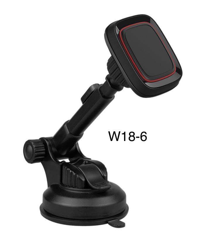 Магнітний тримач для смартфона, планшета на присоску в машину W18-6