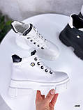 Жіночі черевики ДЕМІ білі еко шкіра весна/ осінь, фото 3