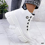 Жіночі черевики ДЕМІ білі еко шкіра весна/ осінь, фото 5
