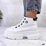 Жіночі черевики ДЕМІ білі еко шкіра весна/ осінь, фото 6