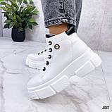Жіночі черевики ДЕМІ білі еко шкіра весна/ осінь, фото 4