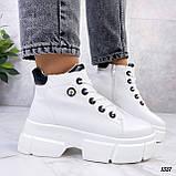Жіночі черевики ДЕМІ білі еко шкіра весна/ осінь, фото 2