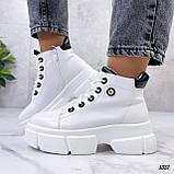 Жіночі черевики ДЕМІ білі еко шкіра весна/ осінь, фото 8