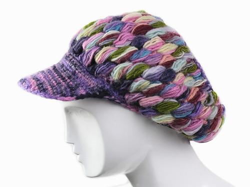 Разноцветная шапка зимняя Ручная вязка