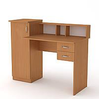 Стол в детскую компьютерный. Стол компьютерный маленький. Пи-Пи-1 ш: 1175 мм. в: 736 мм + 220 мм г: 550 мм