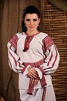 Женская вышиванка с поясом, размер 44